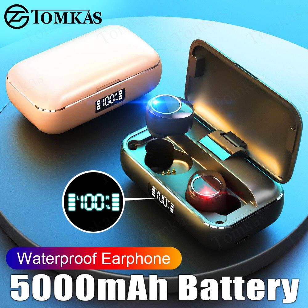 ¼Clearance SaleBluetooth Earphone Headsets Led-Display Stereo Waterproof 5000mah Wireless with Micⁿ