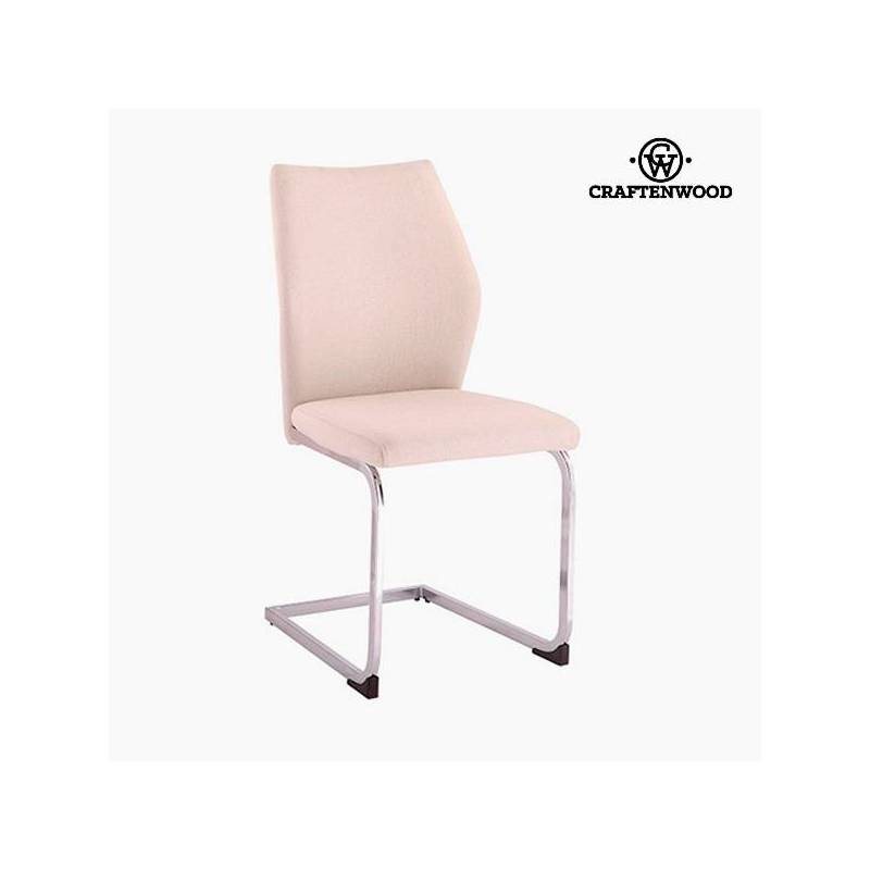 Polyester Chair Beige (42x59x105 Cm) By Craftenwood