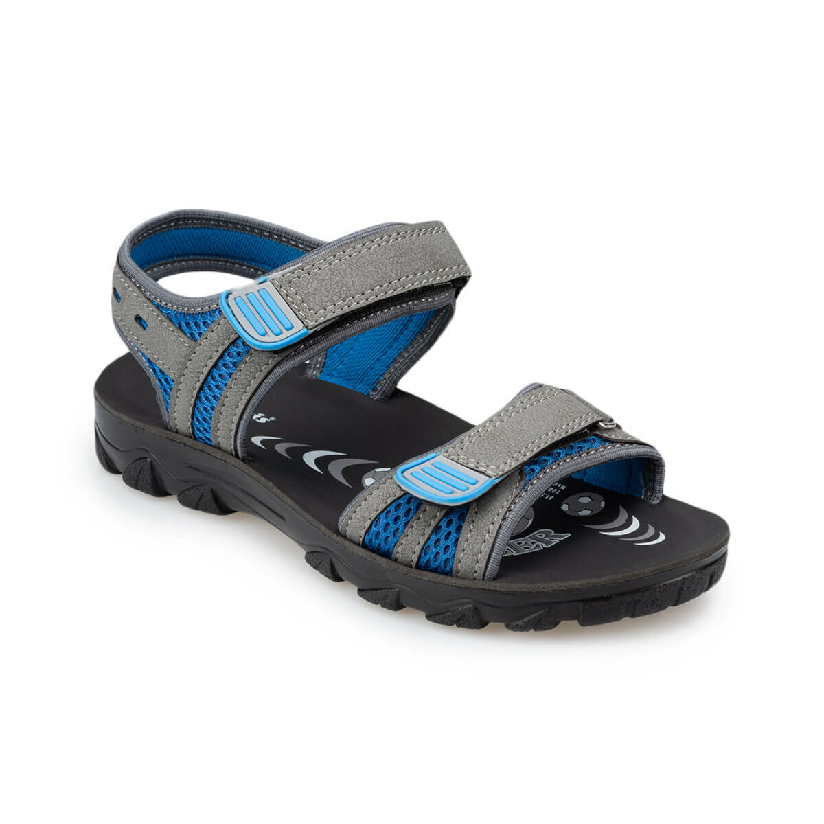 FLO 91. 510358.G Gray Male Child Sandals Polaris