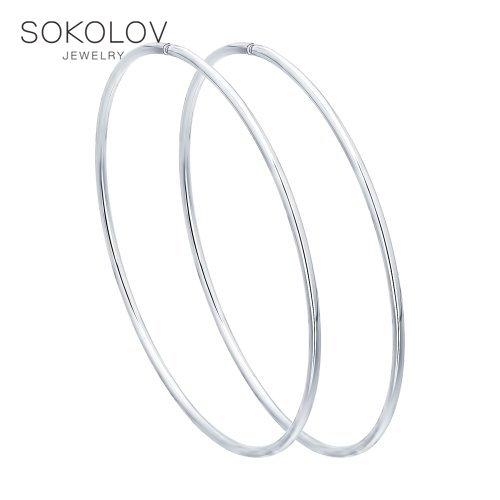 Congo hoop earrings SOKOLOV Silver fashion jewelry silver 925 women's male