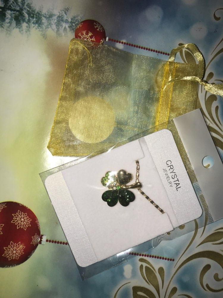Cristal autrichien 4 quatre feuilles trèfle pendentif colliers