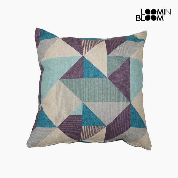 Cushion Mississippi Coor. (60 x 60 x 10 cm) Cotton and polyester Blue|Neck Pillow| |  - title=
