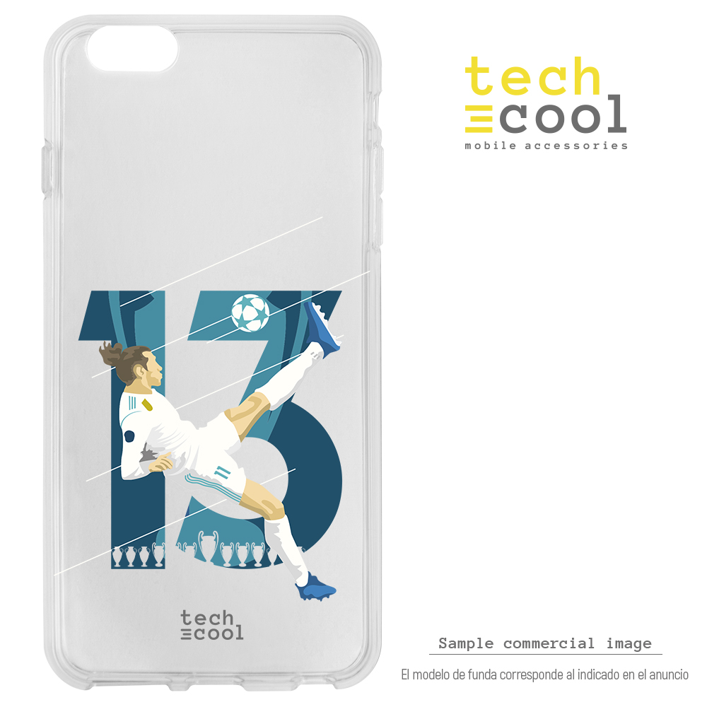FunnyTech®Silikon stand fall für <font><b>IPhone</b></font> <font><b>6</b></font>/<font><b>IPhone</b></font> 6S <font><b>Real</b></font> <font><b>Madrid</b></font> Gareth Bale 13 transparent image