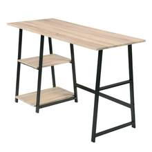 Bureau d'ordinateur à la maison, bureau de travail, 2 étagères pour un grand rangement, bureau d'étude, bureau d'écriture, ordinateur PC portable, Table de jeu