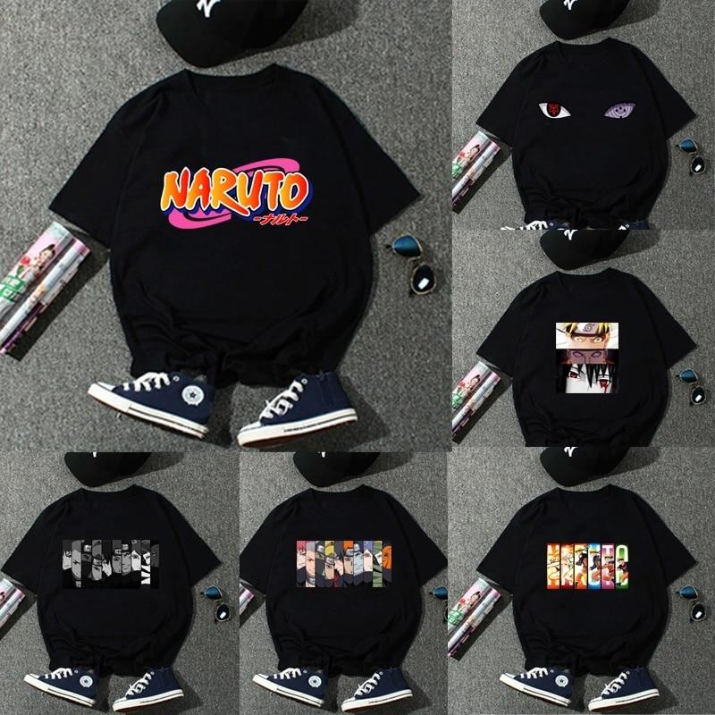 Women Men Fashion Japanese Anime Uzumaki Naruto Printed T Shirt Short Sleeve Casual Punk T Shirt Tops