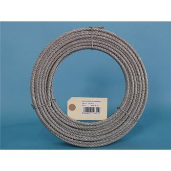 STEEL CABLE GALV 6X7 + 1 6MM CURSOL 100 MT