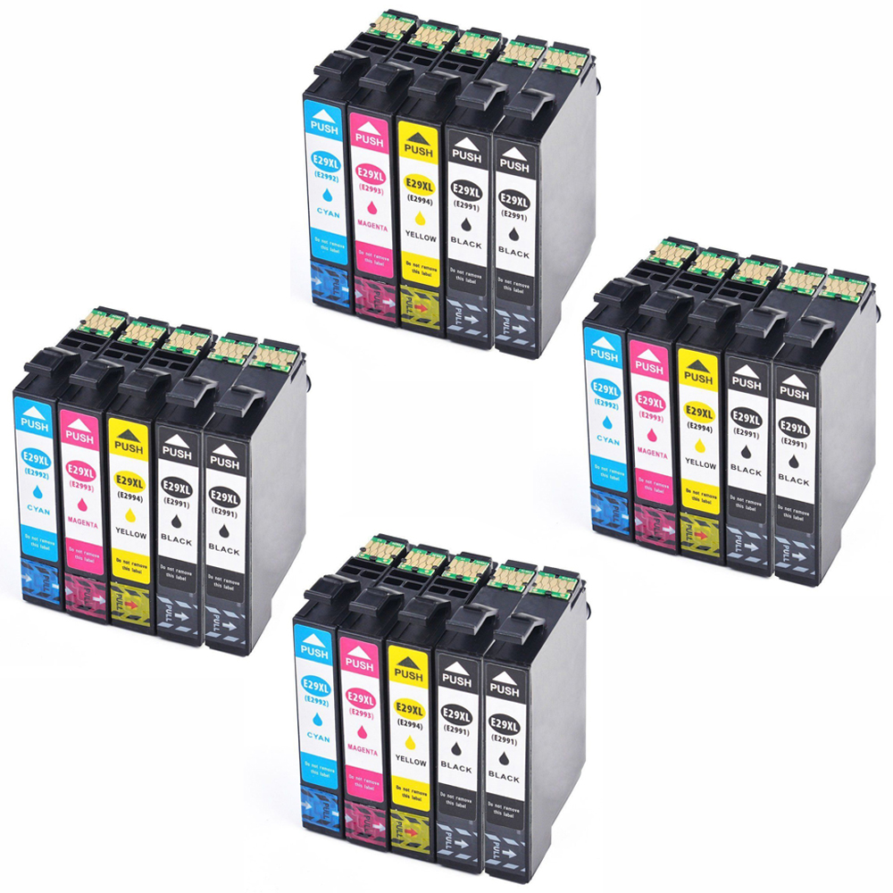 20 Ink Cartriges T29XL Model T 29 XL 29XL's Refill Compatible With Epson Printers XP235 XP335 XP332 XP432 XP435