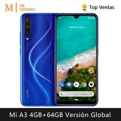 Смартфон Xiaomi Mi A3 (4 Гб ОЗУ 64 Гб ПЗУ бесплатно мобильный телефон Новый дешевый аккумулятор 4030 мАч andriod one) [глобальная версия]