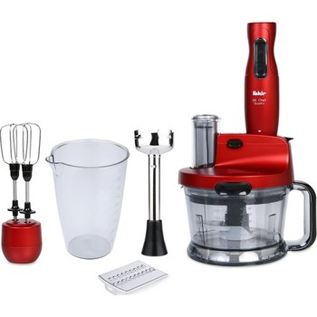 Poor Mr Chef Quadro 1000 W Blender Mixer Kit Rouge Durable Chopping Cutting Whisk Shredding Grating Ice Crusher Operations недорого