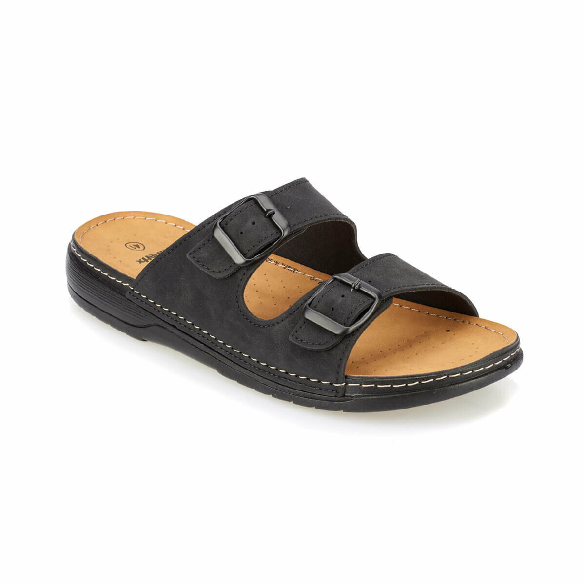FLO PATRICK Black Male Slippers KINETIX