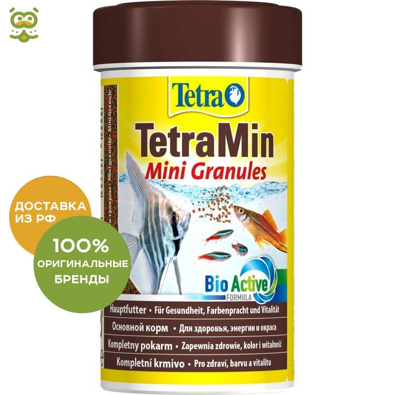 TetraMin Mini Granules (granules) For Juvenile And Small Fish, 100 Ml.