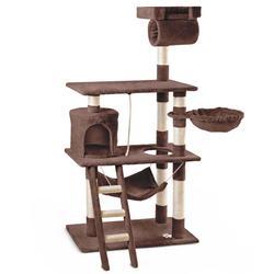 Mc haus-rascador centro de juegos et descanso arbol para gatos de 140cm de altura color marrón