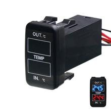 Car internal/external temperature display, dual temperature sensors use for TOYOTA Hilux VIGO,Coaster,Corolla ex,Yaris