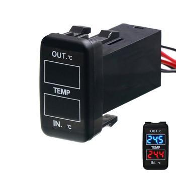 Wewnętrzny zewnętrzny wyświetlacz temperatury samochodu podwójne czujniki temperatury dla TOYOTA Hilux VIGO Coaster Corolla ex Yaris tanie i dobre opinie TIMLOON CN (pochodzenie)