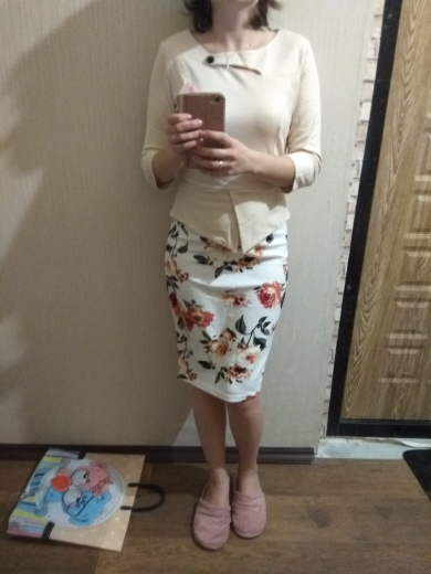 Autumn Print Floral Patchwork Button Casual Dress Business Three Quarter Zip Back Bodycon Summer Office Dress photo review