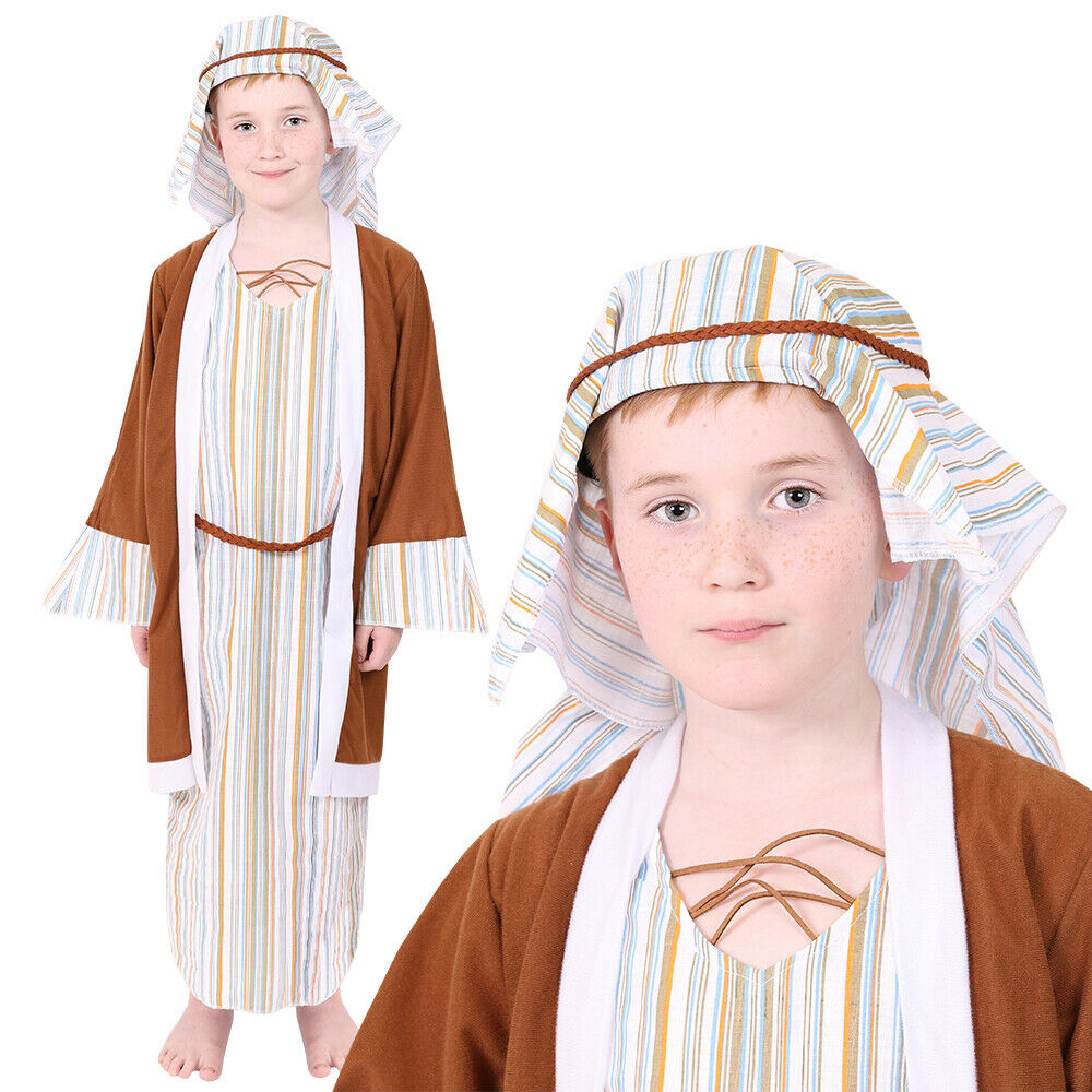 Childs Shepherd Costume Nativity Boys