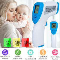 digital infrared thermometer baby, child, adult forehead non contact LCD display fever meter