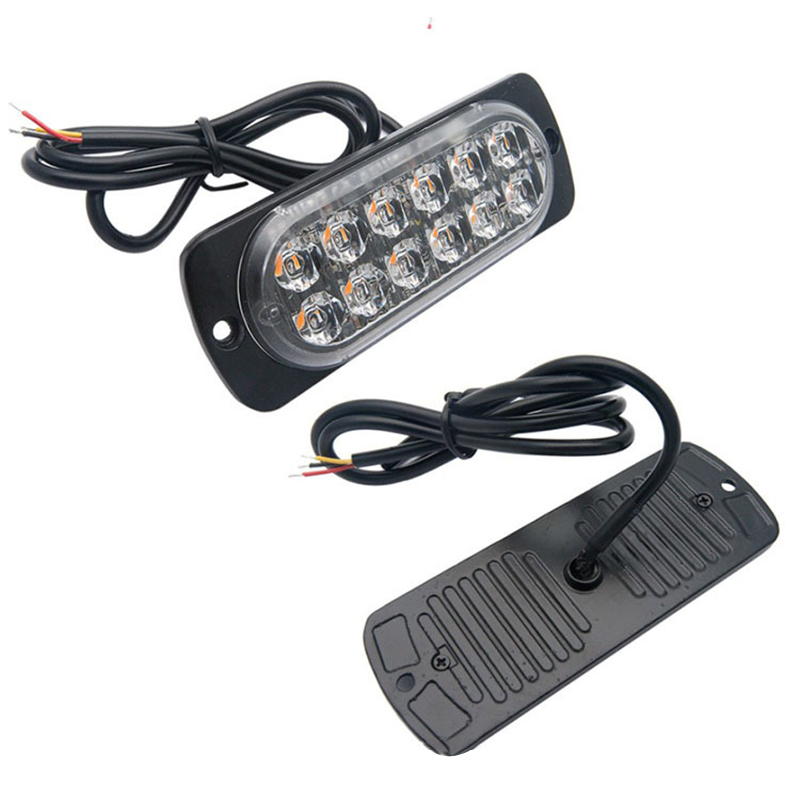 Ultra-thin LED Emergency Light Car Truck Car-Styling Bright Strobe Warning Flashing Emergency Grille <font><b>Police</b></font> Light image