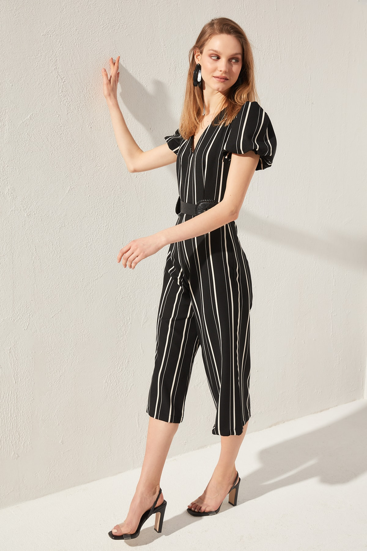Trendyol Striped Jumpsuit TWOSS20TU0014