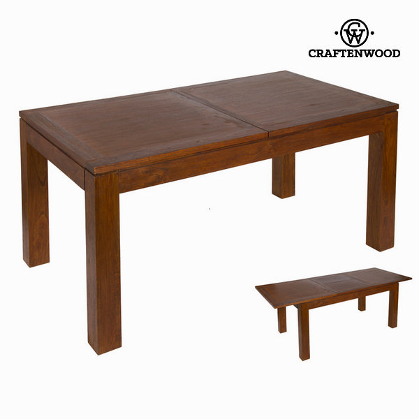 Expandable Table Mindi Wood (160 X 90 X 78 Cm) - Nogal Collection By Craftenwood