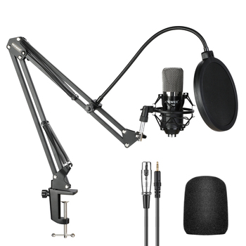Best NW-700 Studio Condenser Microphone Kit for PC Karaoke Youtube Professional Recording Broadcast Mikrofon with Stand
