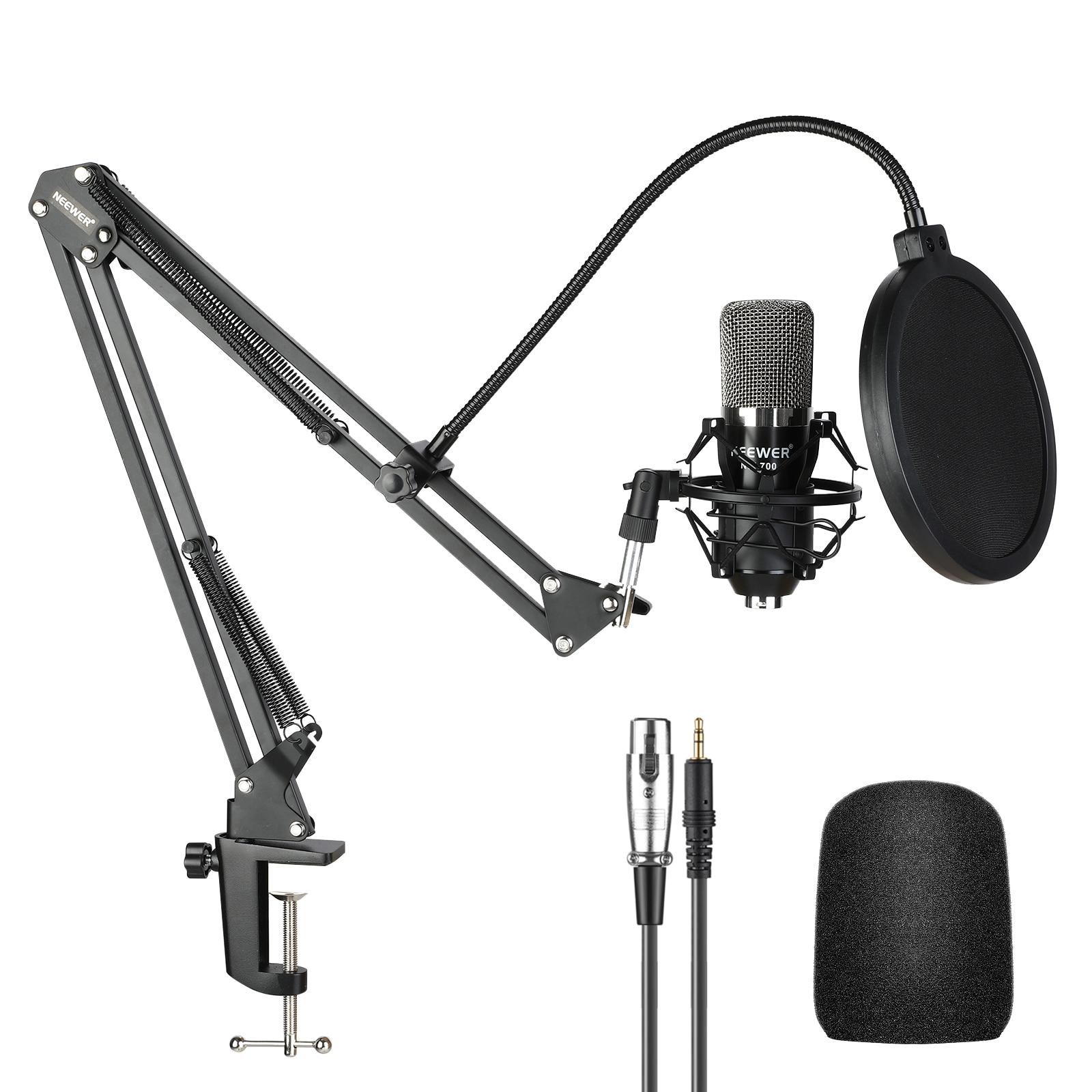 Neewer NW-700 estúdio condensador microfone kit para pc karaoke youtube gravação de transmissão profissional mikrofon com suporte