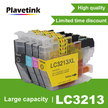 Plavetink 4 Color LC3213 Printer Compatible Ink Cartridge For Brother DCP-J572DW J772DW J774DW MFC-J491DW J497DW J890DW J895DW