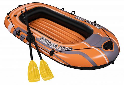 Boat Inflatable With вёслами And Pump, 196 х114 Cm, From 6 Years, Kondor 2000 Bestway, Item No. 61062