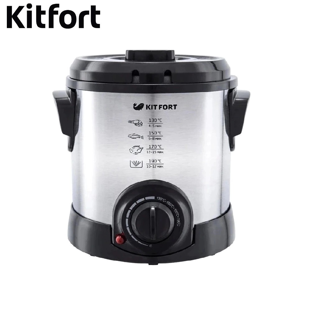 Deep Fryer KITFORT KT-2011 Deep Fryer Electric Deep Fryer frying fries for home electric deep fryers the fryer is a square fryer thermostat fries machine fixed