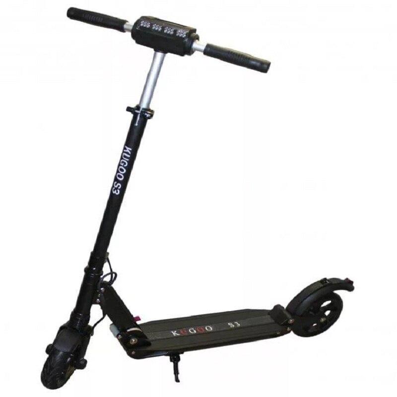 Scooter elétrico 3 Kugoo S preto, dobrável elektrosamokat Куго S3