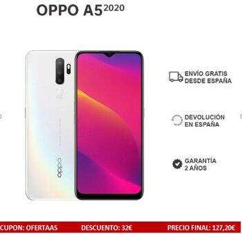 Перейти на Алиэкспресс и купить OPPO A5 2020 смартфон 3 Гб/64 Гб 6,5 дюймов экран HD Четыре задние камеры 5000 мАч две sim-карты Реверсивный заряд 2 года гарантии