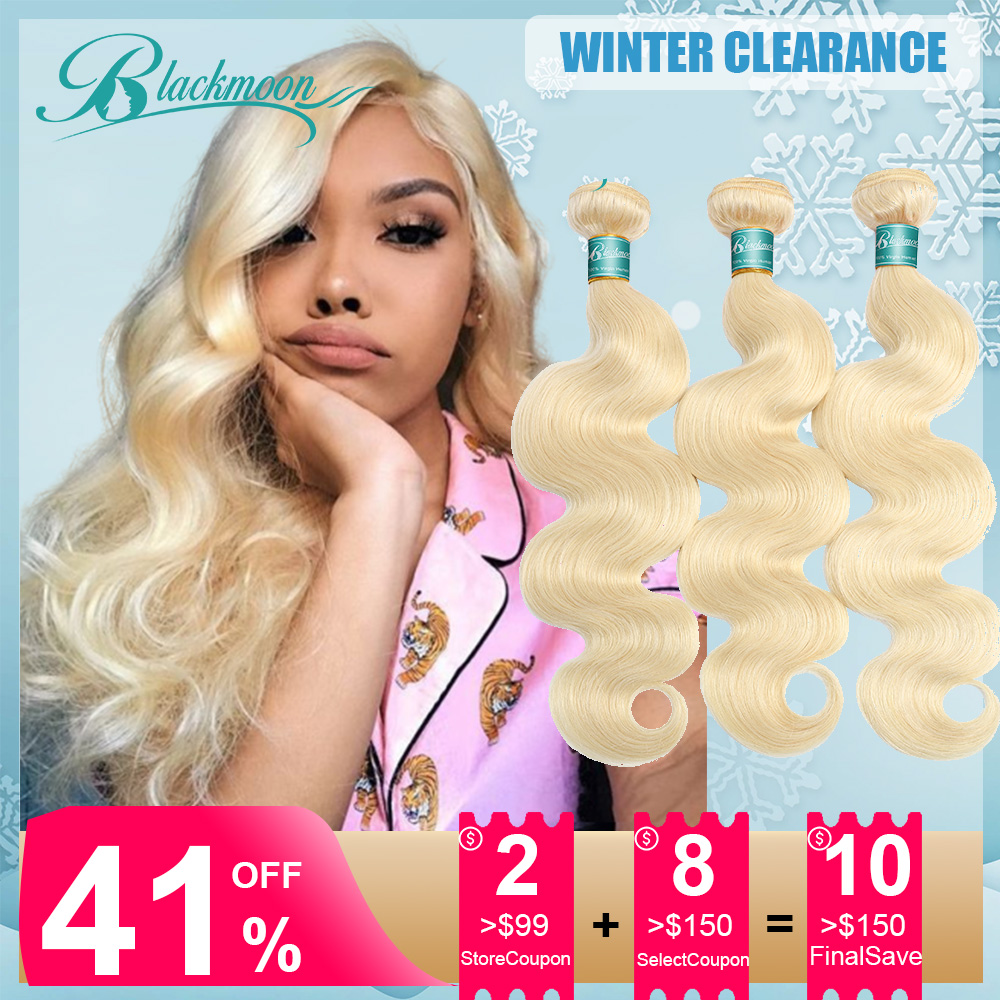 Brazilian Hair Weave Bundles 613 Bundles Blonde Bundles Remy Human Hair Bundles Body Wave Bundles 8 24 26 Inch Bundles Hair