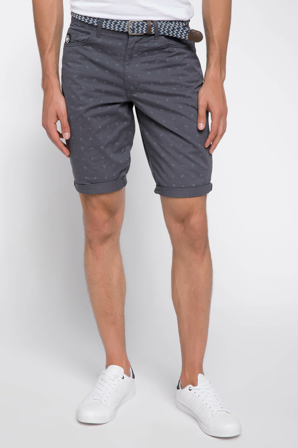 DeFacto Man Fashion Short Pants Male Casual Zipper Shorts High Quality Loose Pants Gray Summer  - I8439AZ18HS