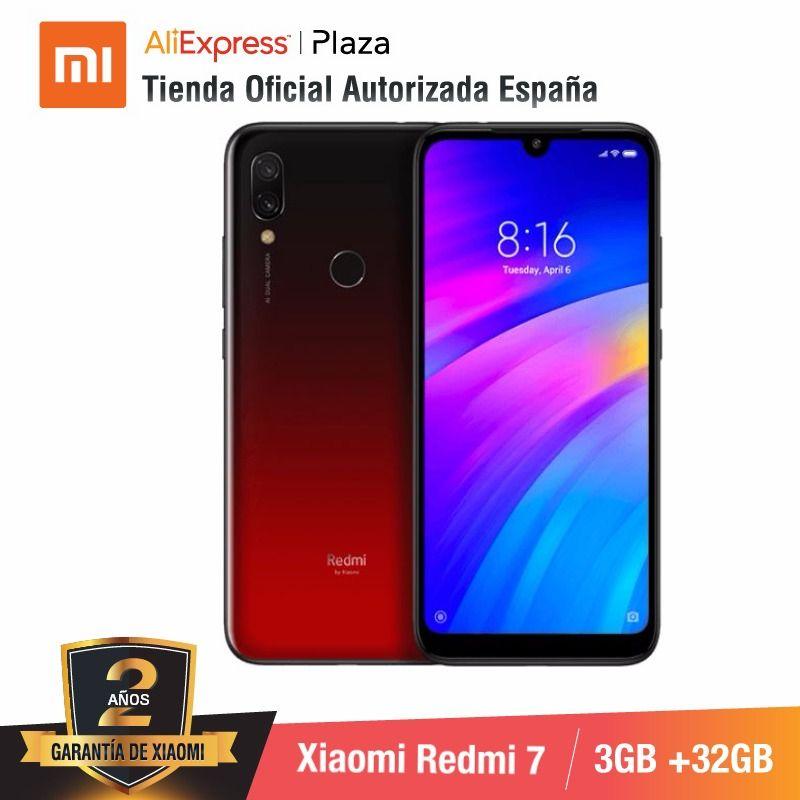 [Versão global para espanha] xiaomi redmi 7 (memoria interna de 32 gb, ram de 3 gb, bateria de 4000 mah) smartphone