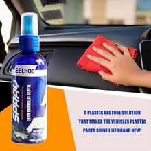 100ml Car Interior Rubber And Plastic Retreading Agent Car Hydrophobic Polish Nano Coating Spray Scratch Repair Cleaning Agent