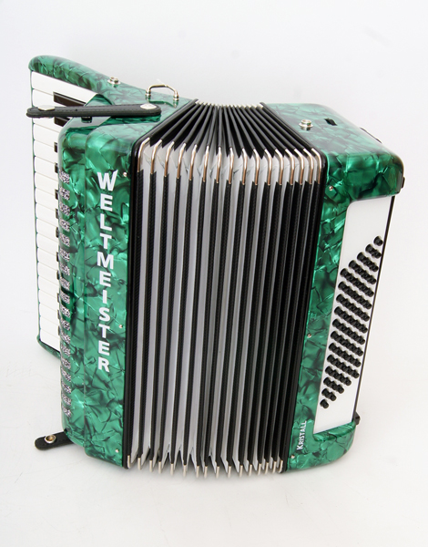 Kristall-iii-60/30-gr Kristall Accordion 30/60/III/5, Green, With Straps And Case, Weltmeister