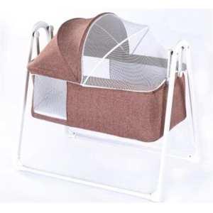 Cradle Jaju Baby Folding Light-Gray Easy-Installation Coffee Nova-Plus Portable