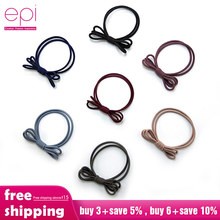 EPI 1pcs girl kids hair ties hair bow elastic rubber band hair gum cute bowknot scrunchy children hair accessories hairband girl hair bow knot ribbon scrunchy elegant hair accessories for women for hair elastic bands new arrival headwear hairband