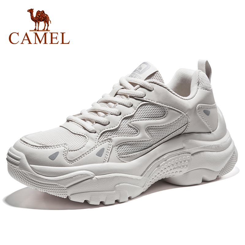 CAMEL Running Shoes Women Platform Height-increasing Casual Walking Sneakers Outdoor