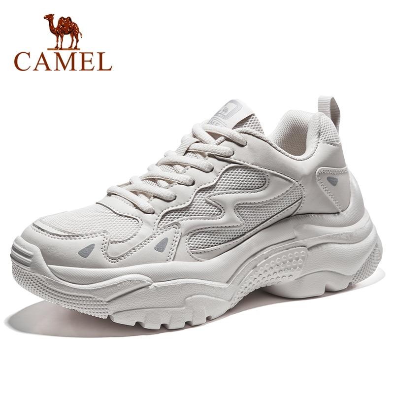 CAMEL Running Shoes Women Platform Height-increasing Casual Walking Sneakers Outdoor