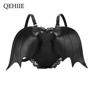 Women Backpack Bat Wing Backpa