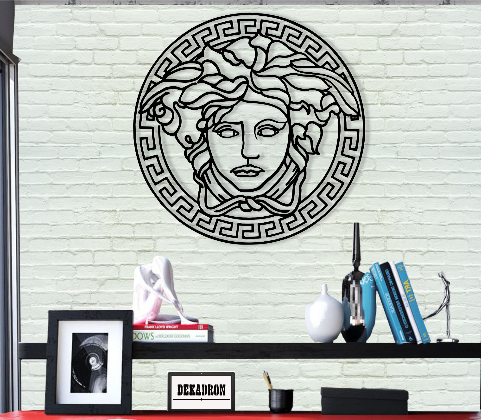 Metal Wall Art, Medusa Art, Metal Wall Decor, Home Office Decoration, Bedroom Living Room Decor, Greek Mythology Art