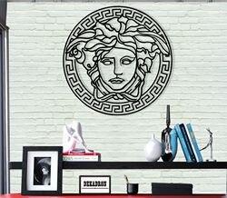 Metall Wand Kunst, Medusa Kunst, Metall Wand Dekor, Home Office Dekoration, Schlafzimmer Wohnzimmer Decor, griechischen Mythologie Kunst