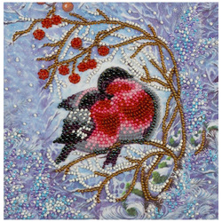 Am-183 set for embroidery with beads 'warmth alone '15*15 cm