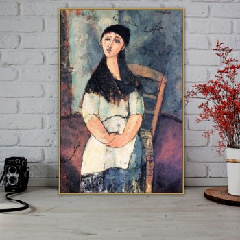Amedeo Clemente Modigliani Old Famous Master Artist Louise Canvas Painting Poster Print for Living Room Wall Decor Wall Art image