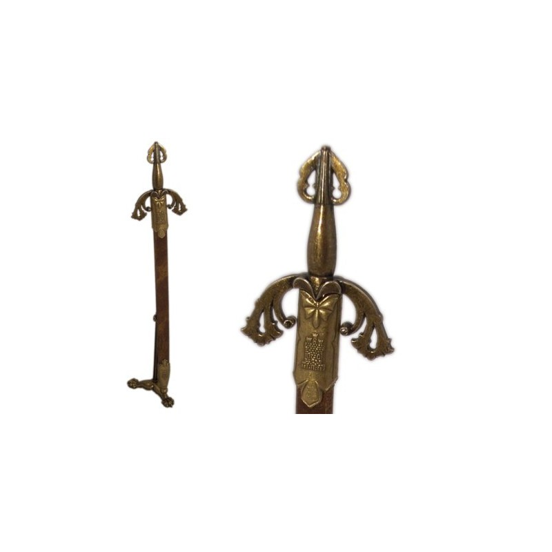 El Cid's Tizona Letter Opener With Scabbard And Support (28cm)