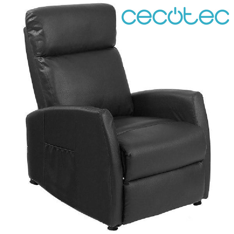 Cecotec Armchair Relax Massage Beauty Compact Push Back. Hot Function, 5 Programs, 3 Intensities, 8 Motores, I Send Control,