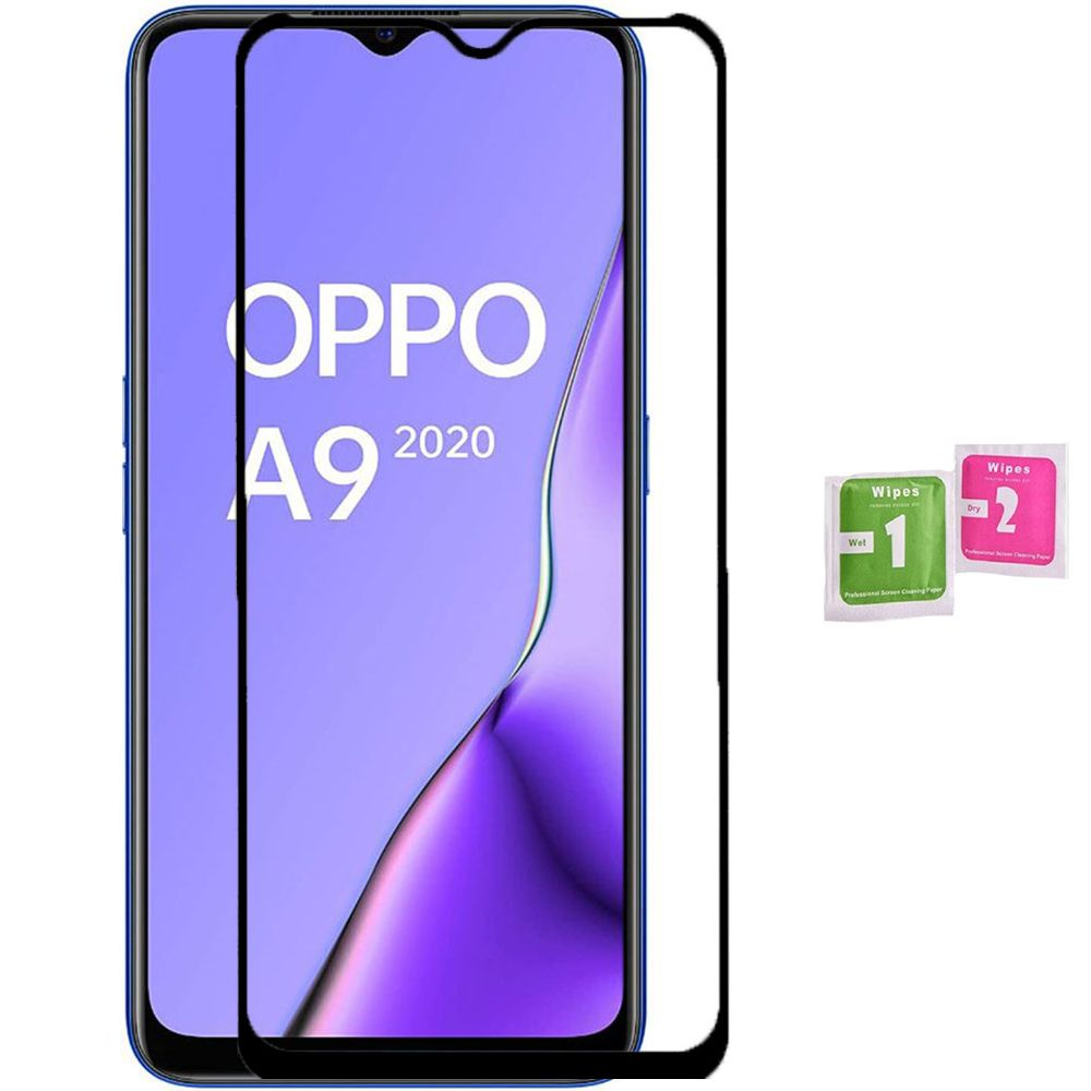 1x Tempered Glass For For OPPO A9 2020 Full LCD Screen Protector