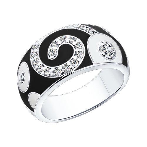 SOKOLOV Ring Of Silver With Enamel Fianitami
