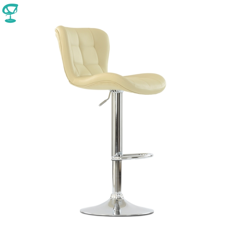 95663 Barneo N-30 Leather Kitchen Breakfast Bar Stool Swivel Bar Chair Beige Color Free Shipping In Russia